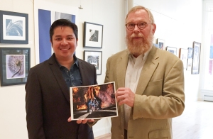 Kenneth Garrett, American photographer of archeology for National Geographic, held a photo critique workshop at the Allegany Arts Council Building, Cumberland,MD. April 18.2015